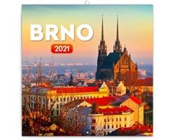 Nástěnný kalendář Brno 2021 - poznámkový - mini