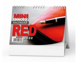 Stolní kalendář Mini daňový RED 2022
