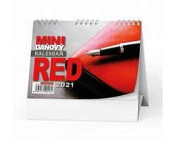 Stolní kalendář Mini daňový RED 2021