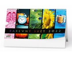 Stolní kalendář Barevný svět 2022