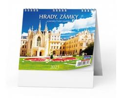 Stolní kalendář IDEÁL 2020 - Hrady, zámky a památky ČR