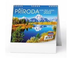 Stolní kalendář IDEÁL 2022 - Příroda, hory, řeky, jezera…