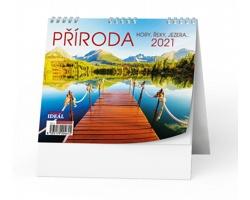 Stolní kalendář IDEÁL 2021 - Příroda, hory, řeky, jezera…