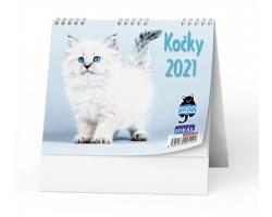 Stolní kalendář IDEÁL 2021 - Kočky /s kočičími jmény/