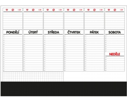 Stolní plánovací kalendář 2021 s lištou, A2 - 50 listů