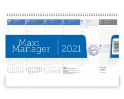 Stolní kalendář Maximanager 2021 - modrá