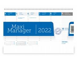 Stolní kalendář Maximanager 2022 - modrá