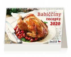 Stolní kalendář Babiččiny recepty 2020