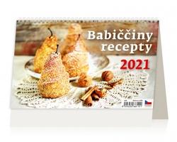 Stolní kalendář Babiččiny recepty 2021