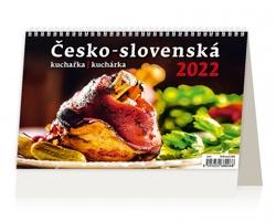 Stolní kalendář Česko-slovenská kuchařka/kuchárka 2022