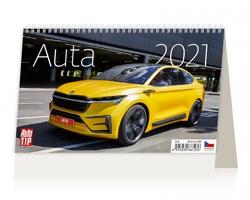 Stolní kalendář Auta 2021