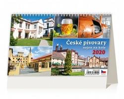 Stolní kalendář České pivovary nejen na kole 2020