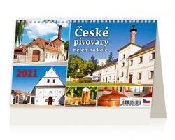 Stolní kalendář České pivovary nejen na kole 2021