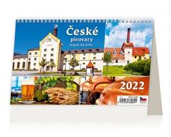 Stolní kalendář České pivovary nejen na kole 2022