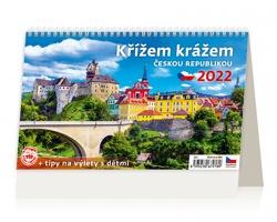 Stolní kalendář Křížem krážem Českou republikou 2022