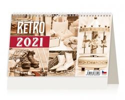 Stolní kalendář Retro 2021