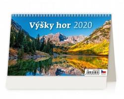 Stolní kalendář Výšky hor 2020