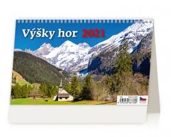 Stolní kalendář Výšky hor 2021