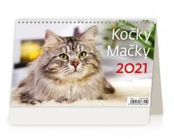 Stolní kalendář Kočky/Mačky 2021
