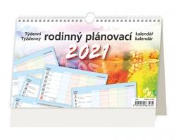 Stolní kalendář Týdenní rodinný plánovací kalendář 2021