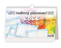 Stolní kalendář Týdenní rodinný plánovací 2022