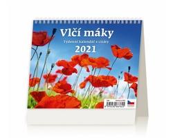 Stolní kalendář Vlčí máky 2021