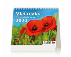 Stolní kalendář Vlčí máky 2022