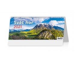 Stolní kalendář Svět hor 2021