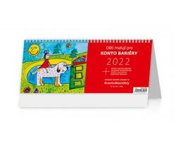 Stolní kalendář Děti malují pro Konto Bariéry 2022