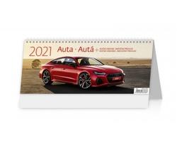 Stolní kalendář Auta/Autá 2021