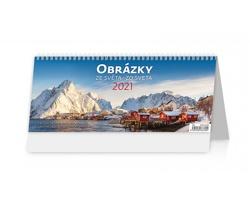 Stolní kalendář Obrázky ze světa/Obrázky zo sveta 2021