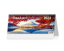Stolní kalendář Obrázky ze světa/Obrázky zo sveta 2022