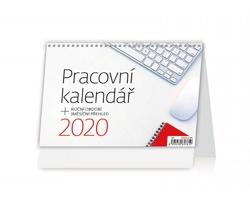 Stolní kalendář Pracovní s tříměsíční přehledem 2020