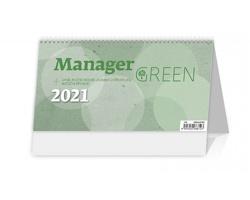 Stolní kalendář Manager Green na recyklovaném papíře 2021