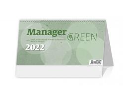 Stolní kalendář Manager Green 2022