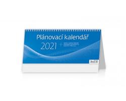 Stolní kalendář Plánovací MODRÝ 2021