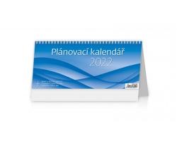 Stolní kalendář Plánovací MODRÝ 2022