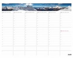 Stolní týdenní kalendář plánovací mapa 2019, A2 - s fotografií