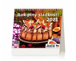 Stolní kalendář Rok plný sladkostí ČR 2021 - MiniMax