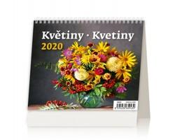 Stolní kalendář Květiny / Kvetiny 2020 - MiniMax