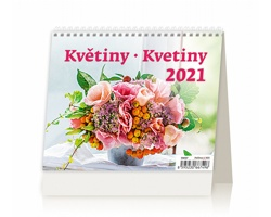 Stolní kalendář Květiny/Kvetiny 2021 - MiniMax