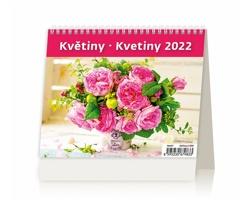 Stolní kalendář Květiny/Kvetiny 2022 - MiniMax