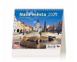 Stolní kalendář Naše města 2021 - MiniMax
