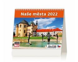 Stolní kalendář Naše města 2022 - MiniMax