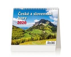 Stolní kalendář České a slovenské hory 2020 - MiniMax
