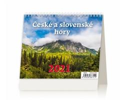 Stolní kalendář České a slovenské hory 2021 - MiniMax