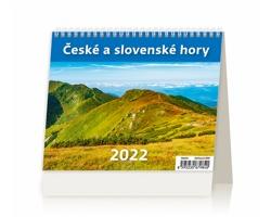 Stolní kalendář České a slovenské hory 2022 - MiniMax