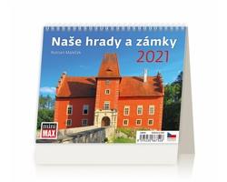 Stolní kalendář Naše hrady a zámky 2021 - MiniMax