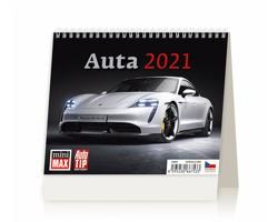 Stolní kalendář Auta 2021 - MiniMax
