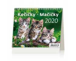 Stolní kalendář Kočičky / Mačičky 2020 - MiniMax